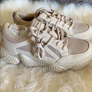 Sole mates textured sneakers